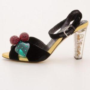 RARE Tom Ford Yves Saint Laurent Velvet Sandals